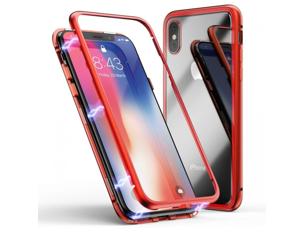 Innocent Durable Magnetic Case 9H iPhone XS/X - Red