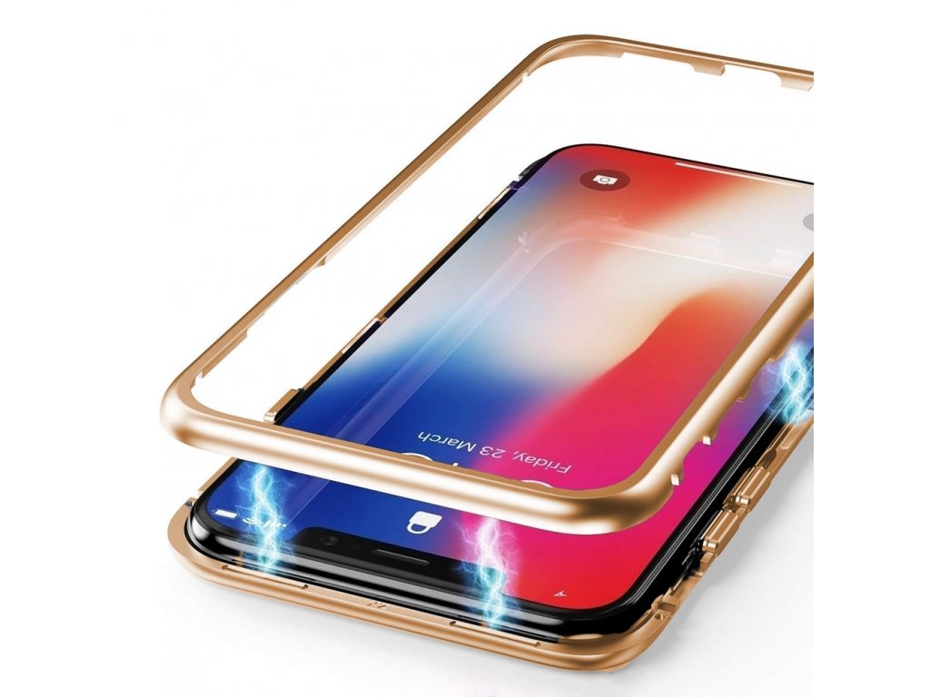 Innocent Durable Magnetic Case 9H iPhone XS Max - Gold