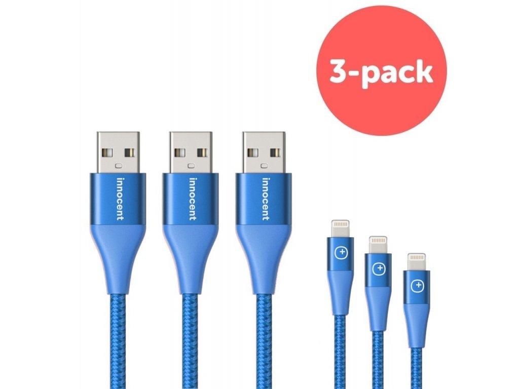 Innocent Flash FastCharge Lightning Cable 1,5m 3-pack - Blue