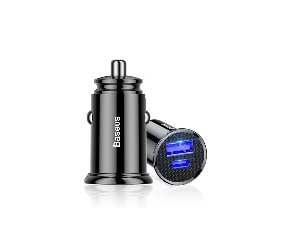 Baseus Circular Dual USB + USB-C Fast Car Charger 30W