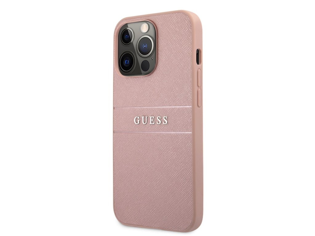 Guess PU Leather Saffiano Case iPhone 13 Pro - Pink