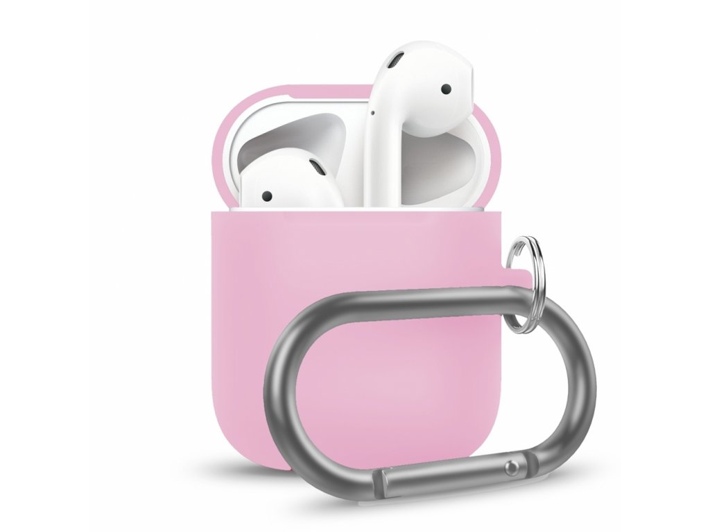Innocent California Silicone AirPods Case with Carabiner - Baby pink