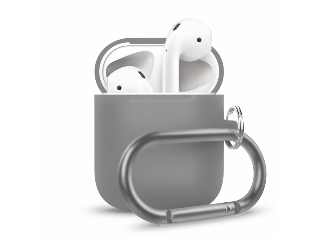 Innocent California Silicone AirPods Case with Carabiner - Grey
