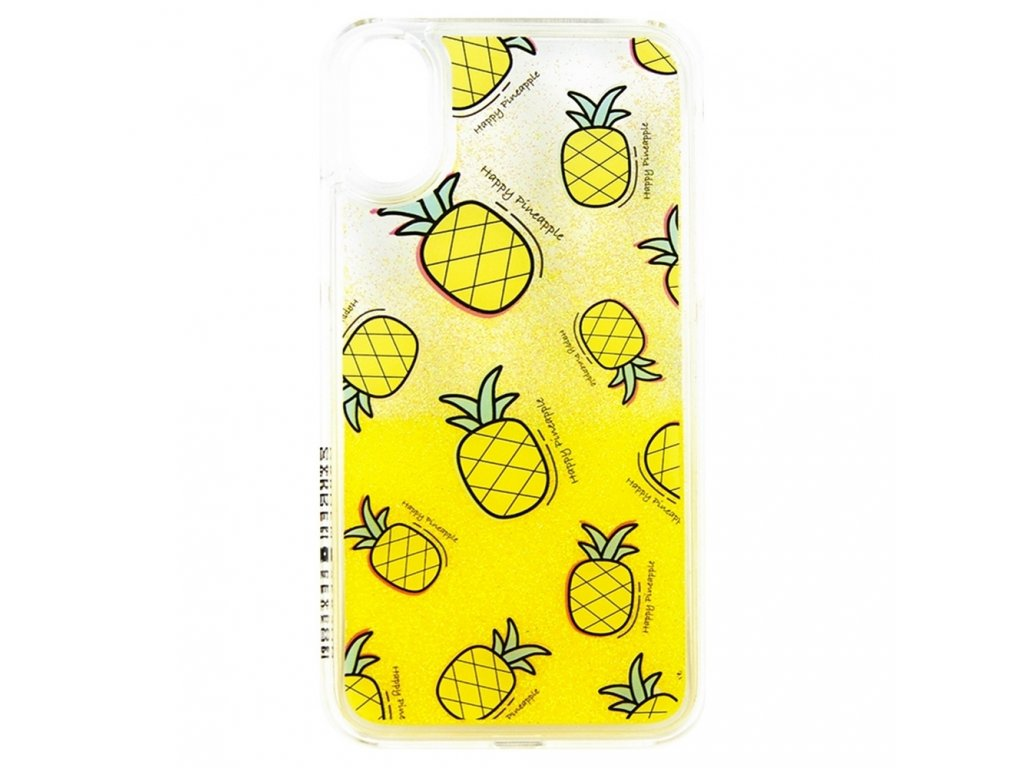 Innocent Garden Season Happy Pineapple Liquid Case iPhone X