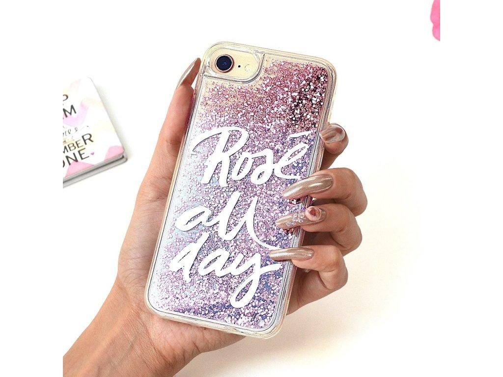 Innocent Glitter Slim Rose All Day Case iPhone X