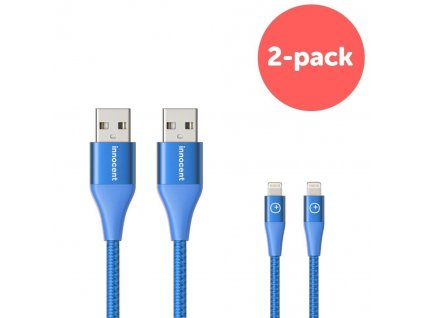 Innocent Flash FastCharge Lightning Cable 1,5m 2-pack - Blue