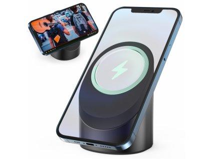 Innocent MagSafe Silicone / Aluminium iPhone Stand - Black