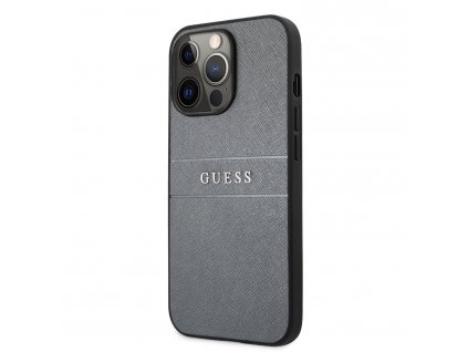 Guess PU Leather Saffiano Case iPhone 13 Pro - Grey
