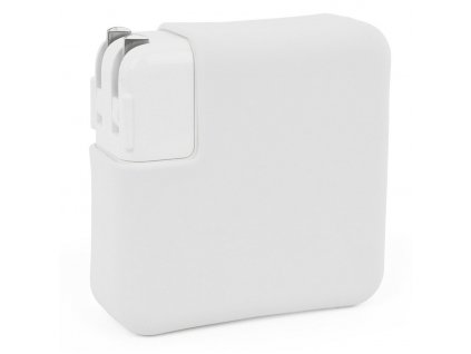 """Silicone MacBook Charger Case for Pro 13"""" USB-C - White"""