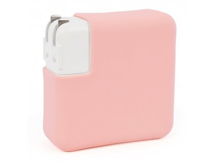 """Silicone MacBook Charger Case for Pro 15"""" USB-C - Pink"""