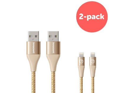 Innocent Flash FastCharge Lightning Cable 1,5m 2-pack - Gold