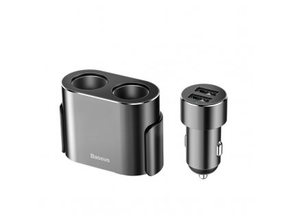 Baseus High Efficiency One to Two Cigarette Lighter 80W + dual USB 3.1A
