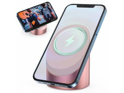 Innocent MagSafe Silicone / Aluminium iPhone Stand - Pink