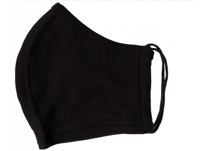 Antibakteriální textilní rouška černá 2