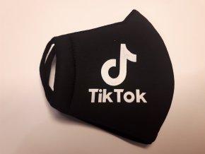 Textilní rouška černá Tik Tok