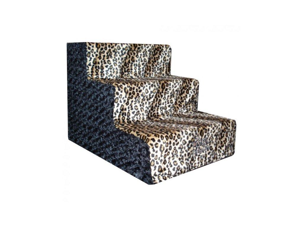 schody pro psy york design leopard