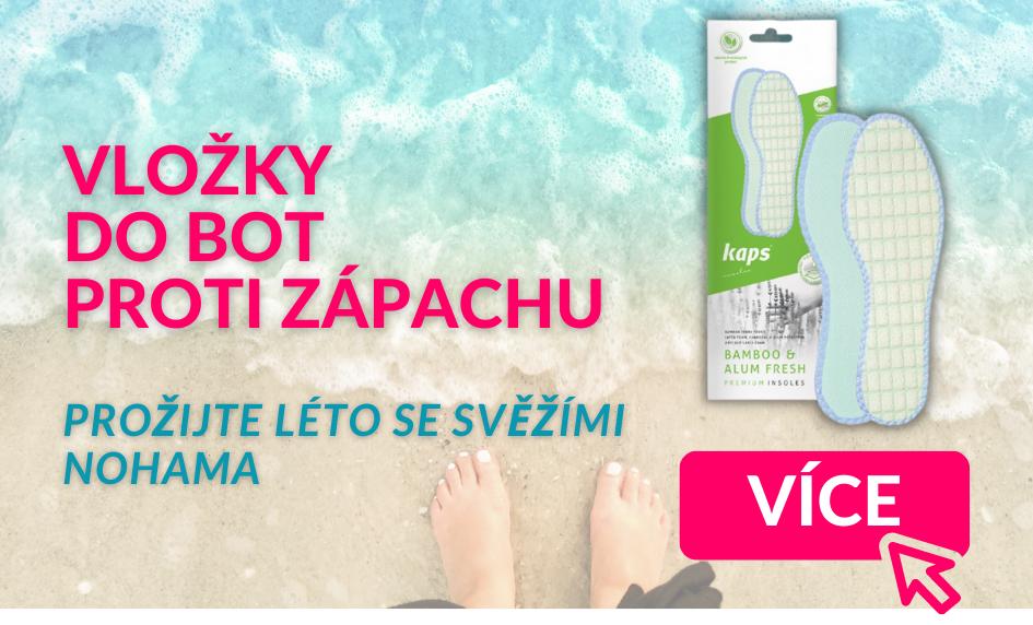 Léto se svěžími nohama - vložky do bot proti zápachu