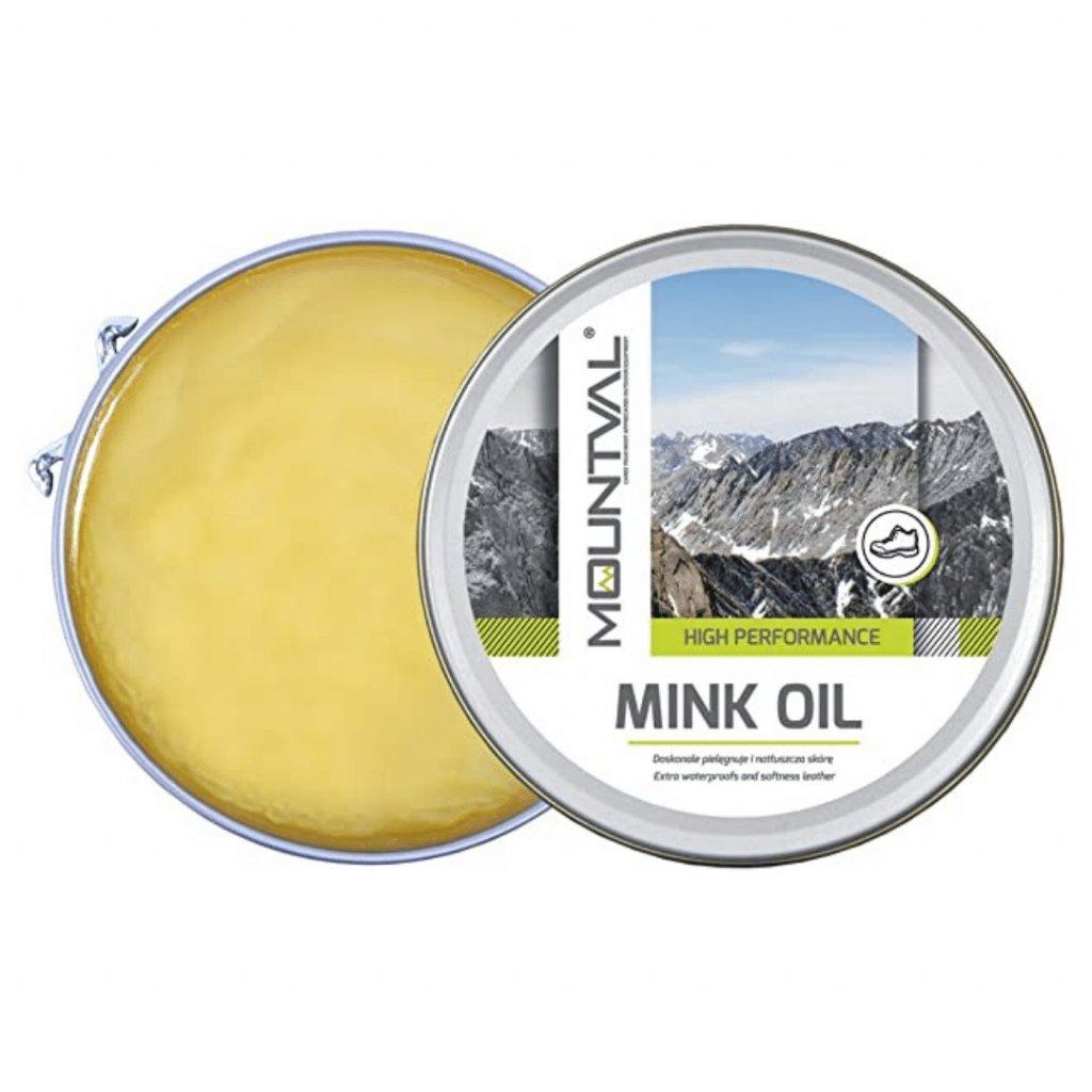 Krém na koženú turistickú obuv Mountval Mink Oil