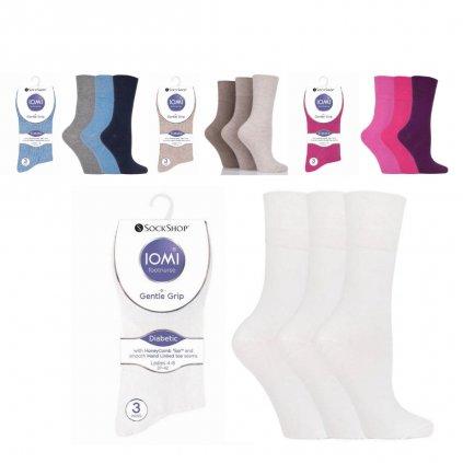 Dámske ponožky pre diabetikov IOMI Gentle Grip tenké