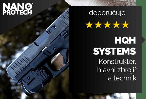 Konstruktér, hlavní zbrojíř a technik společnosti HQH Systems