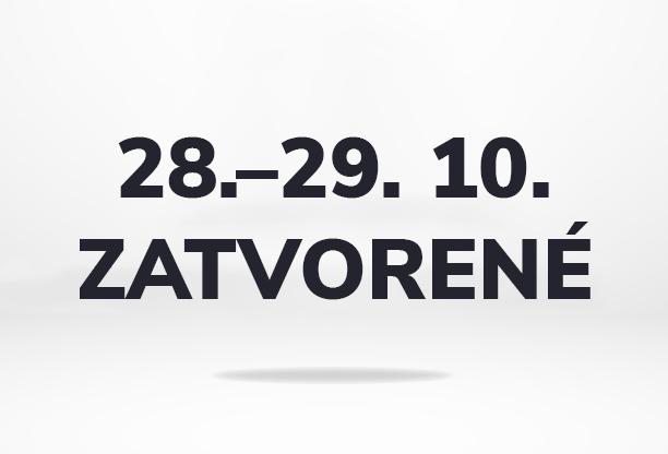 28. – 29. októbra 2021 budeme mať firemné voľno