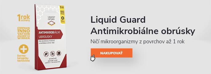 Liquid Guard Antimikrobiálne obrúsky – Ničí mikroorganizmy z povrchov až 1 rok