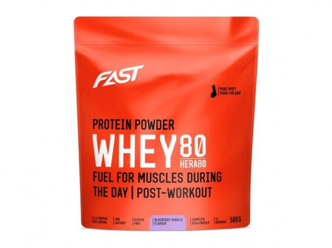 Fast Práškový Protein Hera 80 Borůvka-Vanilka - 500g