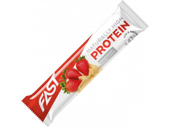 Fast High Protein Strawberry  White Chocolate 35g