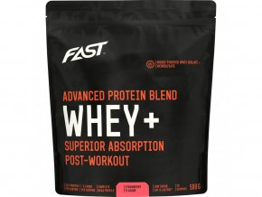 Fast Práškový Protein Whey +  Jahoda - 500g