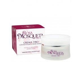 crema viso rosa mosqueta al revitalin emolliente protettiva antirughe olio di jojoba burro di karite