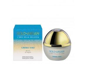 crema viso gold argan idratante acido ialuronico antirughe sesamo iperico prevenzione