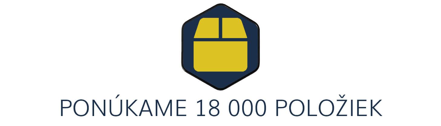 18000 položiek skladom