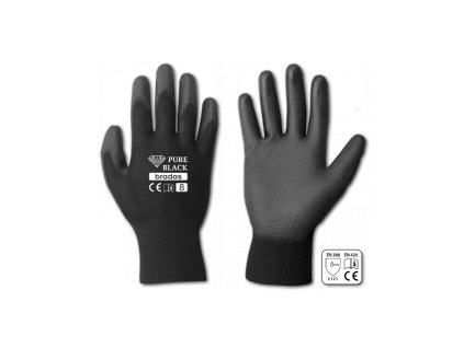 Rukavice  Pure black pro, veľkosť 11
