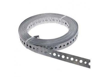 Dierovaná páska 12mm (10m) pozink