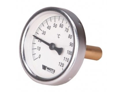 """T80/50 Teplomer 80mm s jímkou 0-120°C, jímka 50mm 1/2"""""""