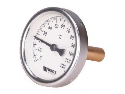 """T100/50 Teplomer 100mm s jímkou 0-120°C, jímka 50mm 1/2"""""""