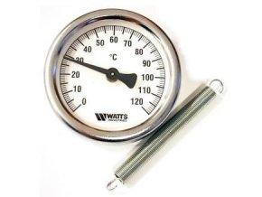 Teplomer príložný 80mm s objímkou 0-120°C