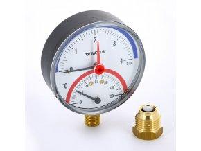 termomanometr radialnyj watts 80 mm o 1 2 04 bar 120 c