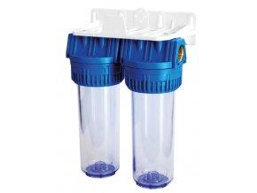 "Filter na vodu AQUA DUPLEX 1"" 2x filter+držiak"