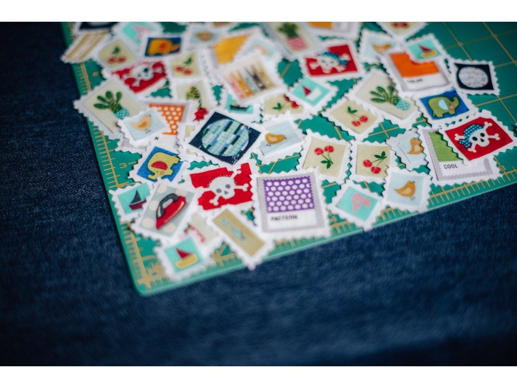 Pytlík plný fabricstamps
