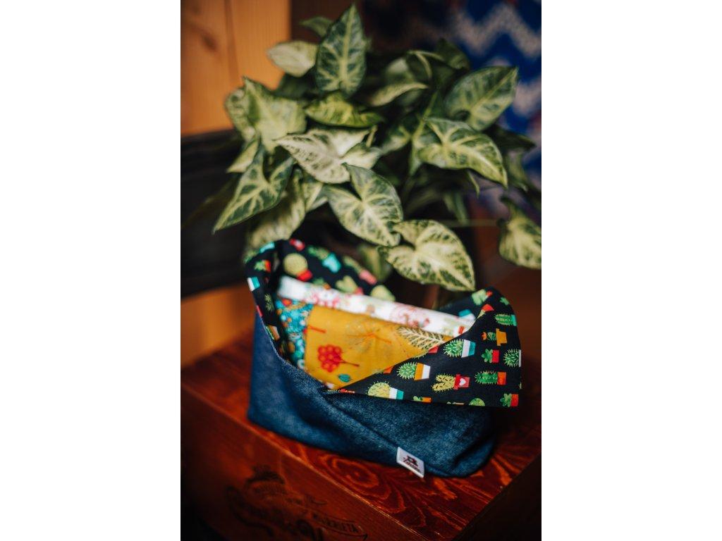 Bento bag - džíny + kaktusy