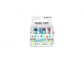 Fujifilm Washi Tape 3 Roll Pack Party 2
