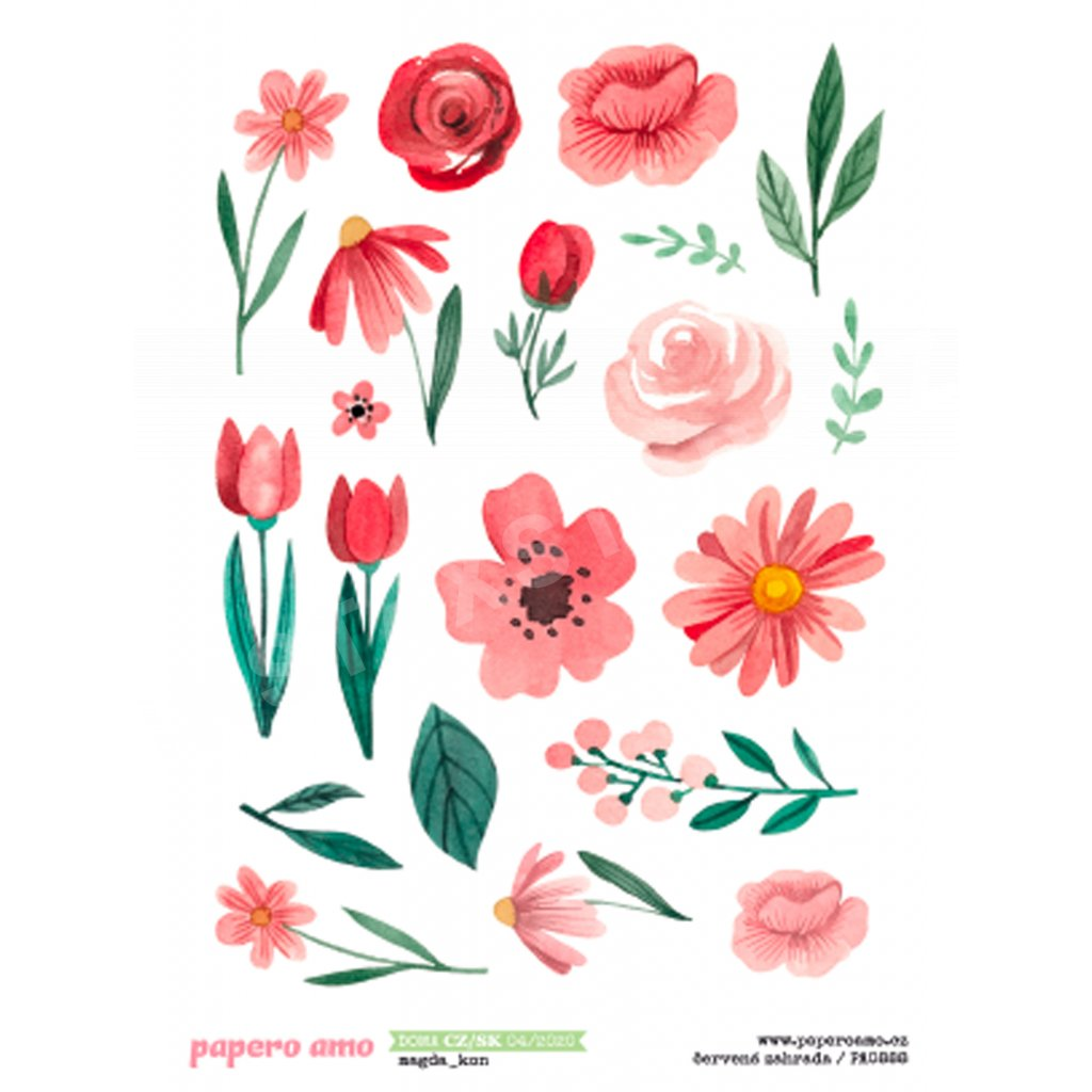 Papero amo - Samolepky arch - DOMA / Červená zahrada