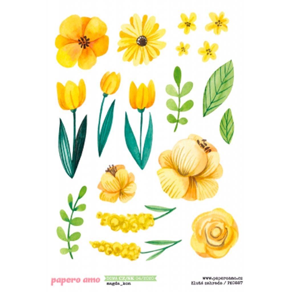 Papero amo - Samolepky arch - DOMA / Žlutá zahrada
