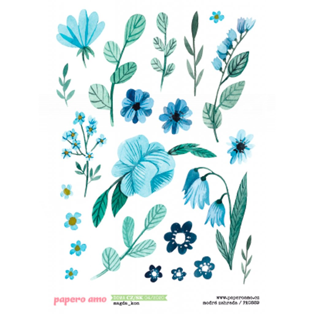 Papero amo - Samolepky arch - DOMA / Modrá zahrada