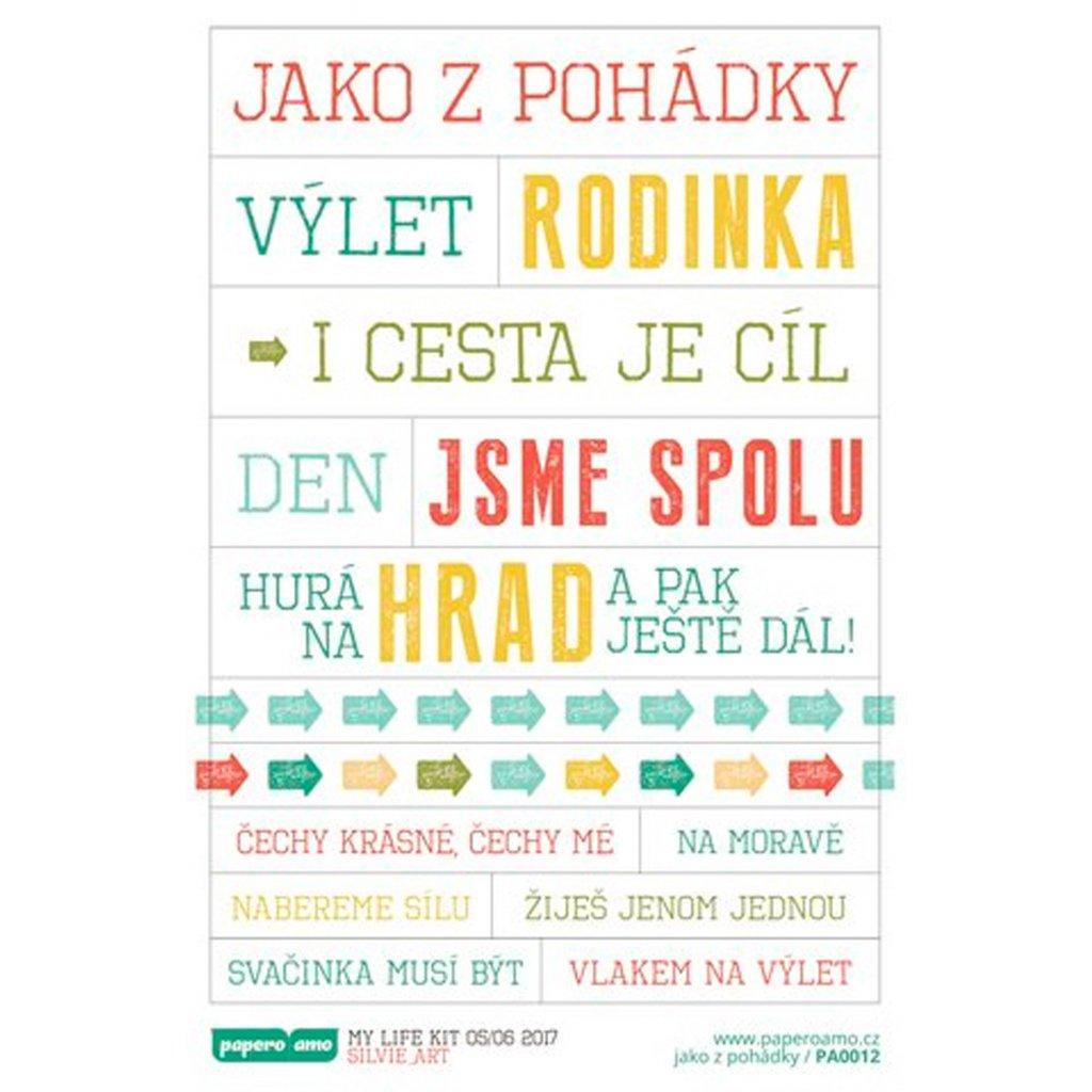 Papero amo - Samolepky arch - MY LIFE KIT 05-17 / Jako z pohádky