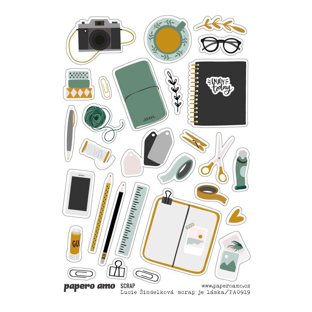 Papero amo - Samolepky arch - SCRAPBOOKING / Scrap je láska