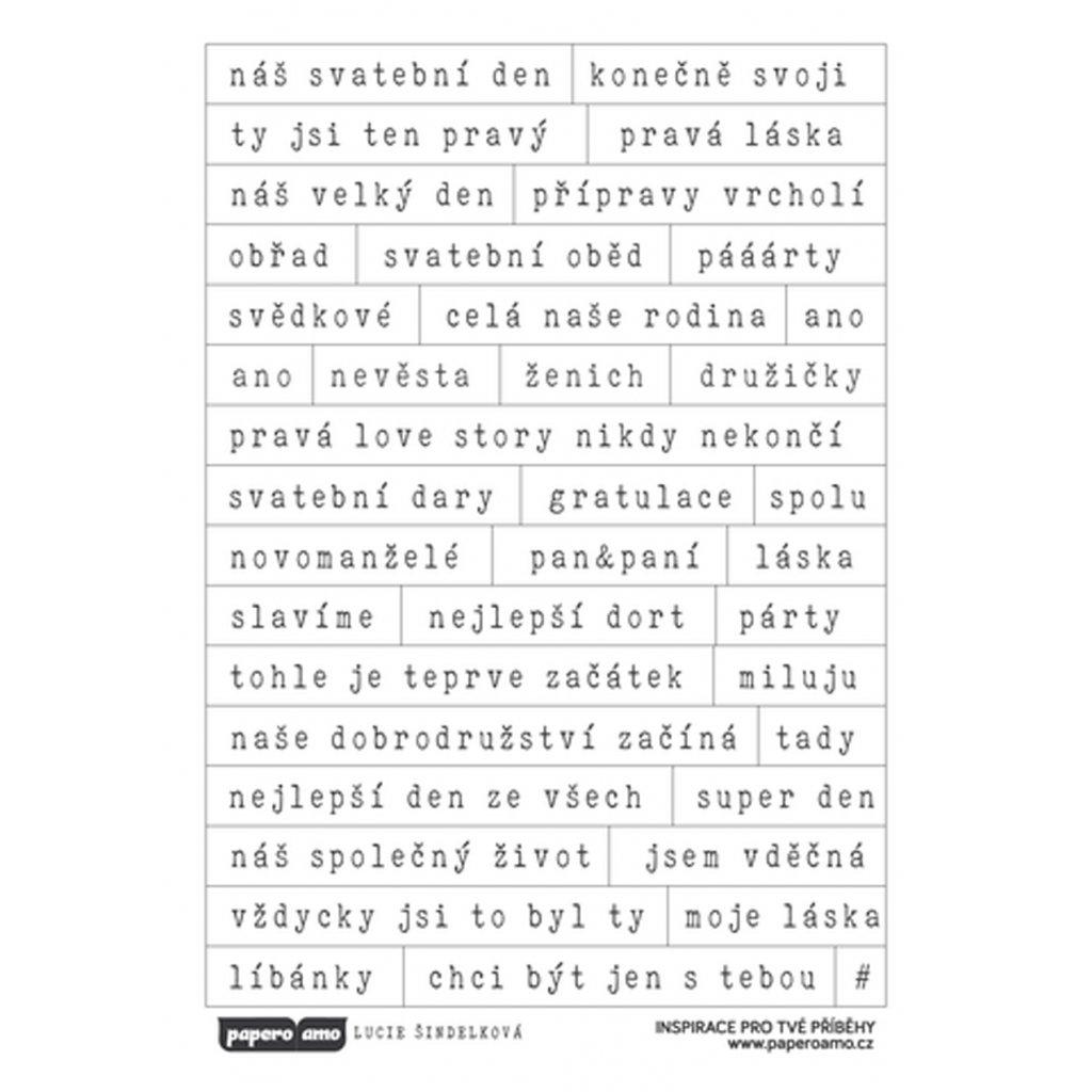 Papero amo - Samolepky arch - SVATBA / Svatební den