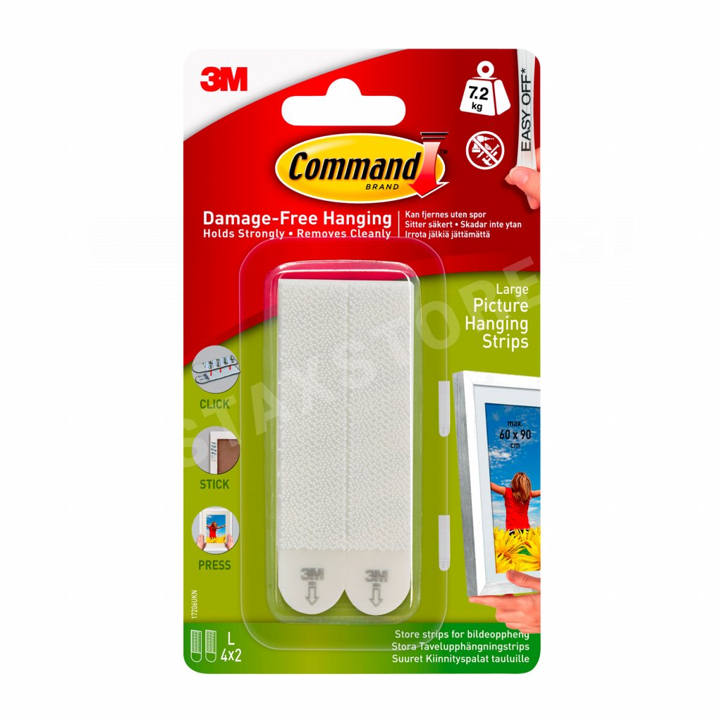 3M Command Hanging Strips White Large