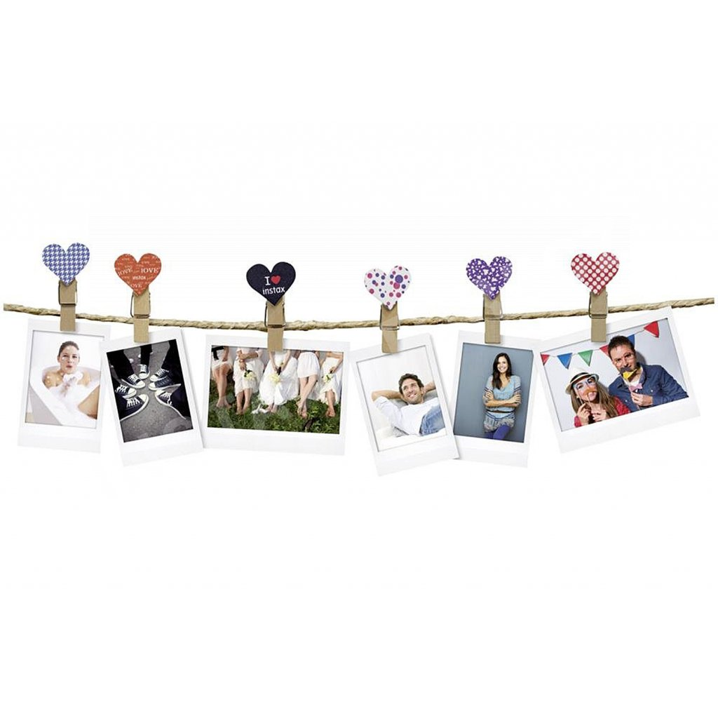 Fujifilm Instax Design Clips (10ks) Hearts
